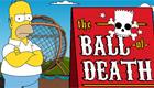Homer en la bola de la muerte