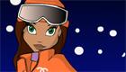 Juego de vestir de esquí con chicas