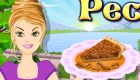 Cocina tarta de nueces para chicas