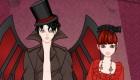 Juego de vestir una pareja de vampiros