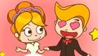 Juego de peinados de boda
