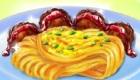 Cocinar espaguetis con albóndigas