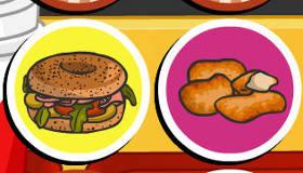 Juego de memoria de comida rápida