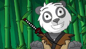 Juego de vestir a un panda