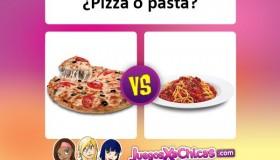 ¿Qué está más rico? ¿La pizza o la pasta?
