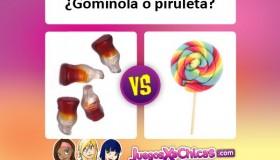 ¿Qué chuche es mejor? ¿Gominola o piruleta?