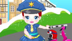 Bebé agente de tráfico