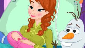 Frozen Anna tiene un bebé