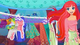 Vestir a Ariel la sirenita