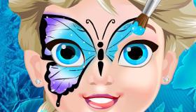 Maquillaje para bebé Elsa