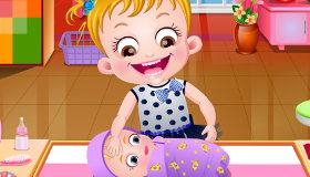 Baby Hazel vacuna de bebés