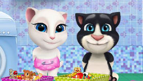 Talking Tom y Angela bebés