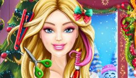 Peinados navideños de Barbie