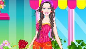 Barbie vestidos florales