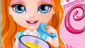 Pasteles con Barbie bebé
