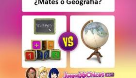 ¿Qué asignatura es mejor? ¿Las mates o la geografía?