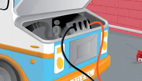 Repara el camión de helados