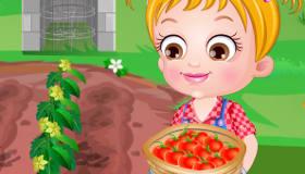 Bebé Hazel en la granja