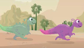 Carrera de dinosaurios