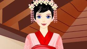 Vestir a una chica japonesa