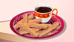 Hacer churros con chocolate