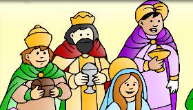Colorear a los Reyes Magos