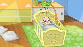 Juego de cuidar un bebé