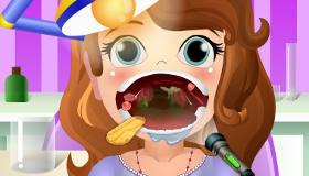 Princesa Sofía en el dentista