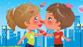 Novio y novia enamorados