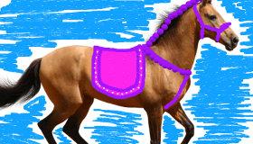 Pintar caballos para niñas