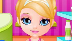 Cocina con Barbie bebé