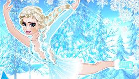 Elsa patinando