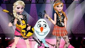Vestir a Elsa y Anna de hermanas modernas