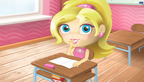 Barbie hace travesuras en el colegio