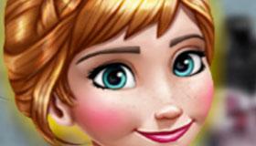 Juego de vestir de la princesa Anna en Frozen