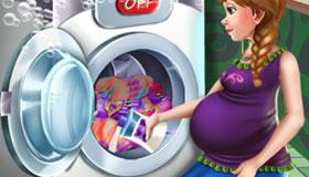 El día de la colada de la Princesa embarazada