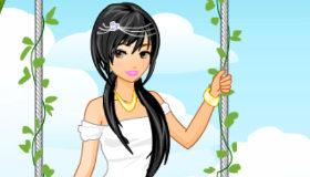 La princesa en su jardín