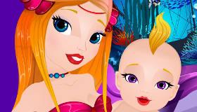 Una sirena y su bebé