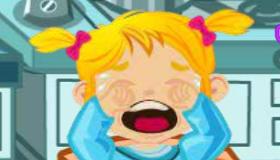 Bebé que llora de pícnic