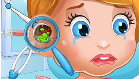 La bebé Lizzie tiene otitis