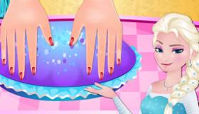 Manicura congelada de Elsa