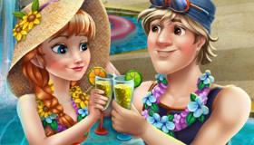 Anna Frozen en la piscina