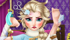 Elsa Frozen enferma