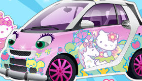 Decorar el coche de Hello Kitty