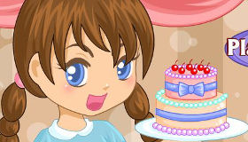 Camarera moderna de pasteles