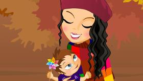 Juego de vestir de mamá y bebé