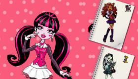 Monster High para colorear a Draculaura