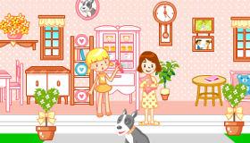 Una bonita casa de muñecas para chicas