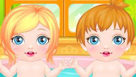 Bebés lindos y tiernos