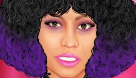 Maquillar a Nicki Minaj